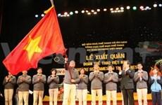 SEA Games 26: la délégation vietnamienne part pour l'Indonésie