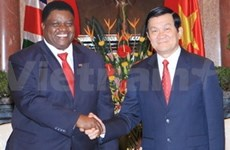 Le président Truong Tan Sang reçoit le chef de la diplomatie namibienne