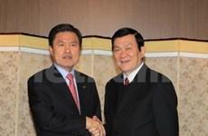 Truong Tan Sang termine sa visite d'Etat en R. de Corée
