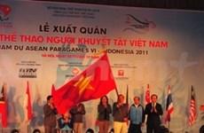 Cérémonie de départ des sportifs pour les 6e ASEAN ParaGames