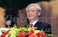 Le secrétaire général Nguyen Phu Trong part pour le Cambodge