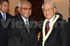 Activités du secrétaire général du PCV au Cambodge