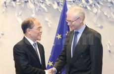 Nguyen Sinh Hung termine sa visite en Belgique et au Parlement européen