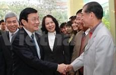 Têt: Truong Tan Sang formule ses voeux à Hai Phong