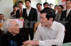 Truong Tan Sang en tournée à Quang Nam