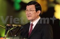 Le président Truong Tân Sang part pour le Laos