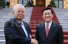 Truong Tan Sang reçoit une délégation de la Keidanren
