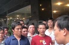 Rencontre des marins sinistrés du bateau de pêche Jung Woo III