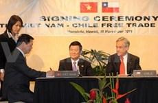 L'accord de libre-échange Chili-Vietnam voté