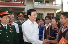 Truong Tan Sang en tournée à Gia Lai et Dak Lak