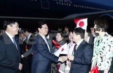 Le Premier ministre Nguyen Tan Dung arrive à Tokyo