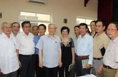 Nguyên Phu Trong rencontre des électeurs de Hanoi
