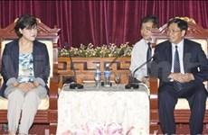 Des jeunes sud-coréens en visite à Binh Duong