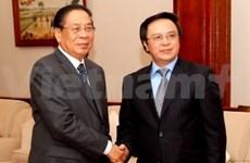 Le chef de l'Etat laotien reçoit une délégation du PCV