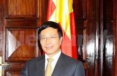 Le ministre des AE Pham Binh Minh en Russie