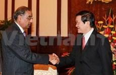 Le chef de l'État reçoit un vice-ministre indien