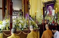 Commémoration d'un grand dignitaire de l'Eglise bouddhique du Vietnam