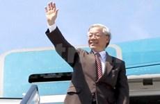 Le leader du PCV Nguyen Phu Trong part pour Singapour