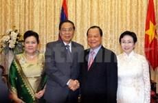 Le président du Laos rend visite à Ho Chi Minh-Ville