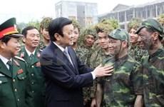 Vœux présidentiels du Nouvel An aux militaires