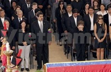 Hoàng Trung Hai aux funérailles du président Chavez