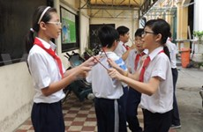 Un air de musique traditionnelle à une école primaire du Sud