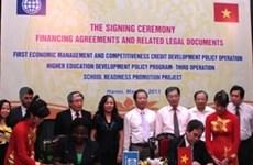 Trois accords de 400 millions de dollars signés avec la BM