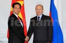 Entrevue Nguyen Tan Dung - Vladimir Poutine