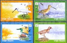 Les oiseaux du parc national de Xuan Thuy ont leurs timbres