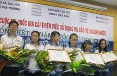 Concours sur la protection de l'eau : florilège de récompenses