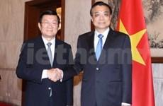 Truong Tan Sang rencontre des dirigeants chinois