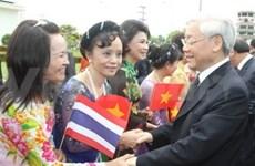 Nguyen Phu Trong achève sa visite officielle en Thaïlande