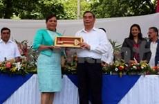 Une haute délégation du PCV en visite au Nicaragua