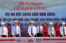 Lancement de la construction du pont Vam Cong sur le fleuve Hâu