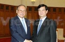 Nguyen Tan Dung reçoit un hôte japonais
