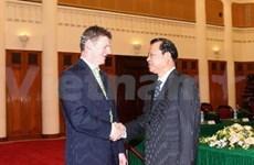 Entretien entre les vice-PM vietnamien et néo-zélandais
