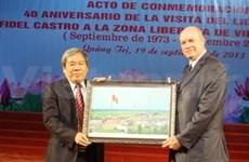 Commémoration de la visite de Fidel Castro à Quang Tri