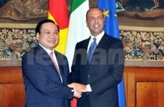 Le vice-PM Hoang Trung Hai en visite officielle en Italie