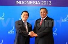 Truong Tan Sang rencontre d'autres dirigeants de l'APEC
