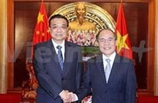 Le président de l'AN reçoit le Premier ministre chinois