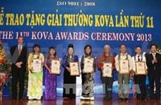 Remise des prix Kova 2013