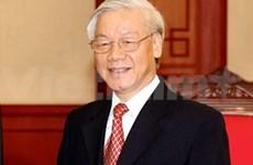 Le leader du PCV Nguyen Phu Trong part pour l'Inde