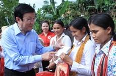 Le président rend visite à Quang Nam