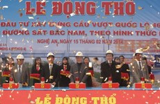 Mise en chantier d'un autopont dans la province de Nghe An