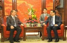 Le PM chinois reçoit le président du FPV