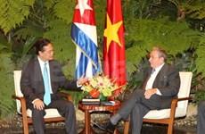 Entretien Nguyen Tan Dung et Raul Castro Ruz