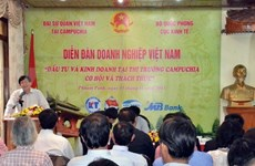 Approbation du Protocole sur l'investissement Vietnam-Cambodge