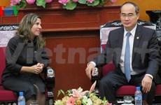 Le président du FPV reçoit la présidente cubaine de l'ICAP