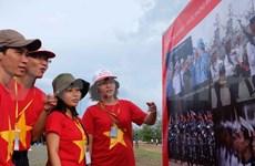"""Programme artistique """"Fier de la mer et des îles du Vietnam"""" à Kien Giang"""