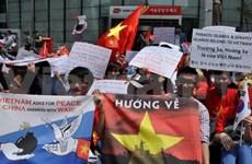 La diaspora vietnamienne protestent contre les agissements illégaux de la Chine
